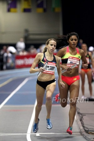 Tully ran valiantly at the DMR in Boston on February 7 but came up just short of the win -- and the WR