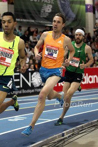 Ben Blankenship Chasing Nick Willis in the Mile This Past Weekend