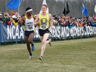 Jenkins en route to a second-place finish at the 2014 NCAA XC Championships