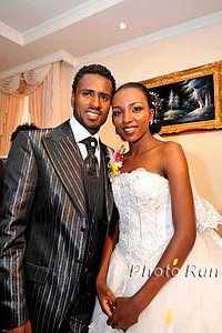 Sileshi Sihine may have often settled for silver on the track, but he won gold off it. His bride is Tirunesh Dibaba. *More Sihine-Dibaba wedding photos
