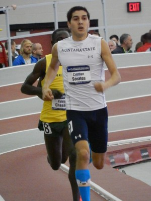 Soratos gave it all he had at NCAA indoors, but it wasn't enough to overcome Cheserek