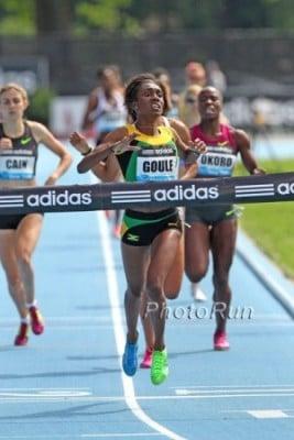 Goule ran 2:00 in New York last summer