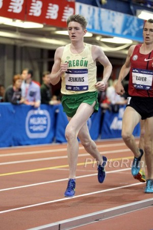 Jenkins ran a blazing 7:44.91 for 3000 at the Millrose Games on February 14