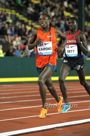 Karoki ran 26:52 for 10,000 at Pre last year