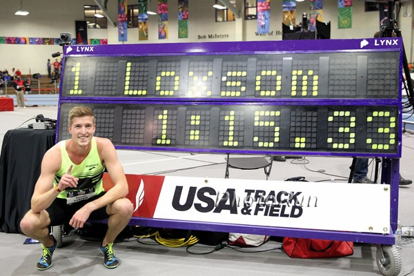 Loxsom set the American record to win USAs two years ago, but he has since lowered the mark