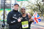 Mo Farah and Alberto Salazar at the New Orleans Rock N Roll Half in 2012