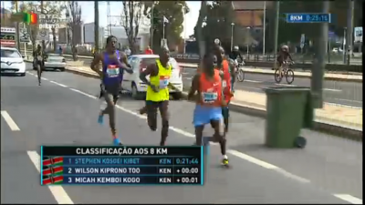 The leaders dropped Farah early in the race