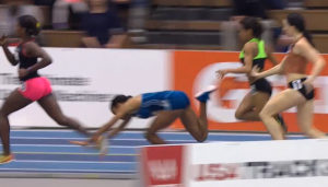 Ajee Wilson Starts to Fall
