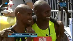 Mo Farah and Micah Kogo