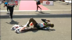 Mo's Competitors Can't Stop Him, But The Tape Can (Must have been the adidas logo)