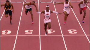 Omar McLeod Sets a New NCAA Record of 7.45!