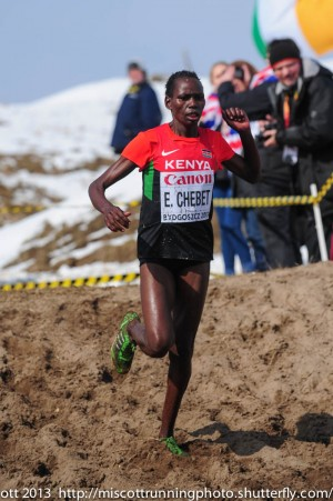 Emily Chebet at the 2013 Worlds. (c) Mike Scott 2013.