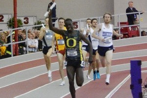 Edward Cheserek Wins the 2015 NCAA DMR for Oregon