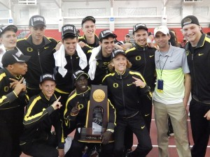 The Oregon distance men won the NCAA title by themselves