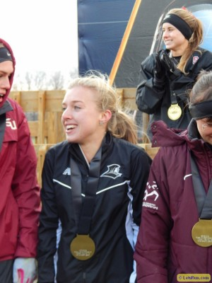 Sisson on the podium after finishing 7th at NCAA XC in 2013