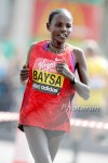 Bayisa (who also goes by Baysa) en route to a fourth-place finish at the 2011 London Marathon