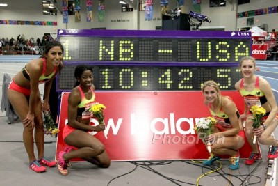 Martinez, Jones, Brown and Krumpoch set the DMR world record indoors in February