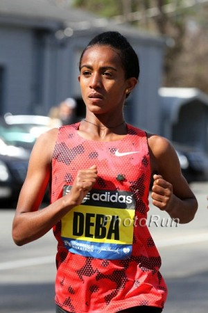 Deba set the course record in Boston in 2014
