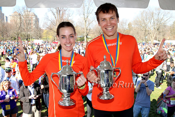 Molly Huddle and Ben True