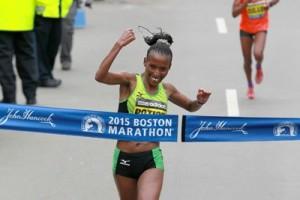 Caroline Rotich Wins Boston