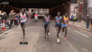 The final four - Wilson Kipsang, Dennis Kimetto, Eliud Kipchoge and Stanley Biwott