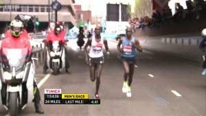 A 4:41 hilly 24th mile was too much for everyone but these two