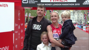 Paula and Her Family at the Finish
