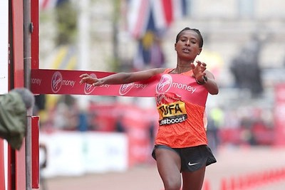 In another hyper-competitive London Marathon, Tufa broke the tape first