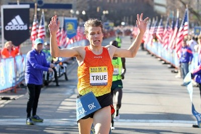 True broke the U.S. road 5k record (13:22) last year in Boston