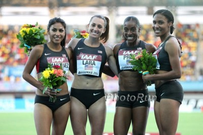 The team of (from left) Martinez, Lara, Price and Wilson brought home the gold for Team USA last year