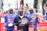 Wilson Kipsang, Eliud Kipchoge, and Dennis Kimetto and Prince Harry