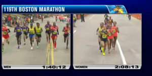 Dathan and Meb and Desi Lead the Boston Marathon Simultaneously