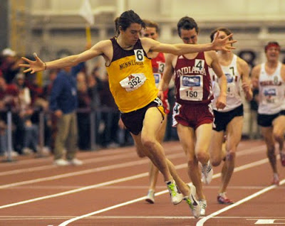 Blankenship enjoyed a successful career at Minnesota, winning the Big 10 mile in 2010 (shown here) and finishing 2nd in the 3,000 at NCAAs in 2011