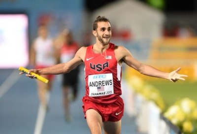 Andrews anchored the U.S. to a 4x800 victory at World Relays last year; can he earn an individual medal in the 1500 this weekend?