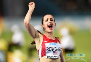 Rowbury, shown here at the World Relays in May, has had reason to celebrate in 2015