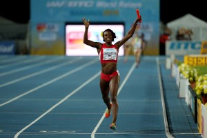 Alysia Montano All Alone for Gold  © Getty Images for IAAF