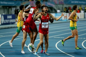 Kyle Merber and USA Celebrate  © Getty Images for IAAF