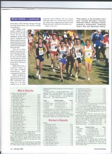 Before becomining an Olympic triathlete, Ryan Bolton (far right) more than held his own in NCAA xc. (click for a larger image)
