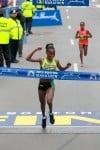 Caroline Rotich wins the 2015 Boston Marathon. Photo by Vicath Sailer.