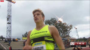 Loxsom after the race