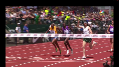 Blankenship was jubilant as he crossed the line