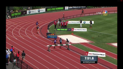 Kemboi and Birech were level as they hurdled the final barrier