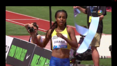Dibaba won by
