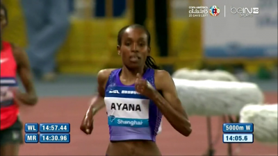 Ayana is now #3 all-time at 5,000