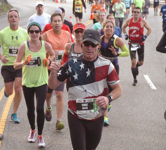Rossi at the 2014 Philly Marathon