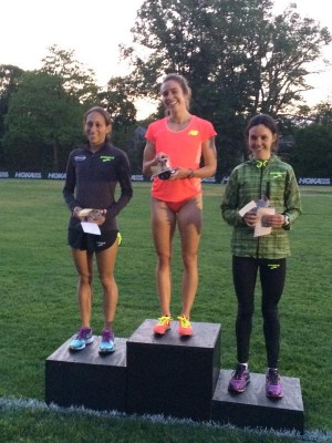 Linden, D'Agostino and Cullen on the podium
