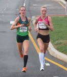 Shalane Flanagan (right) battles Molly Huddle at the 2013 .US National Road Racing Championships in Alexandria, Va., in November, 2013 (photo by David Monti for Race Results Weekly)