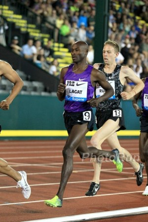 Rupp beat Lagat for just the second time in 21 chances at Pre last month