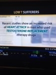 Taking androgel after a heart attack might not be a good iea