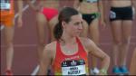 Molly Huddle pre-race